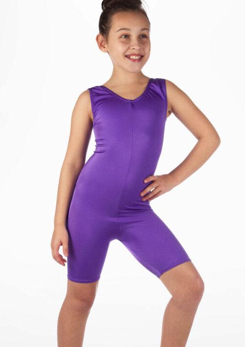 purple acro dance unitard