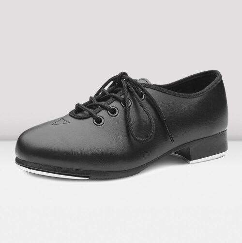 boys black tap shoes