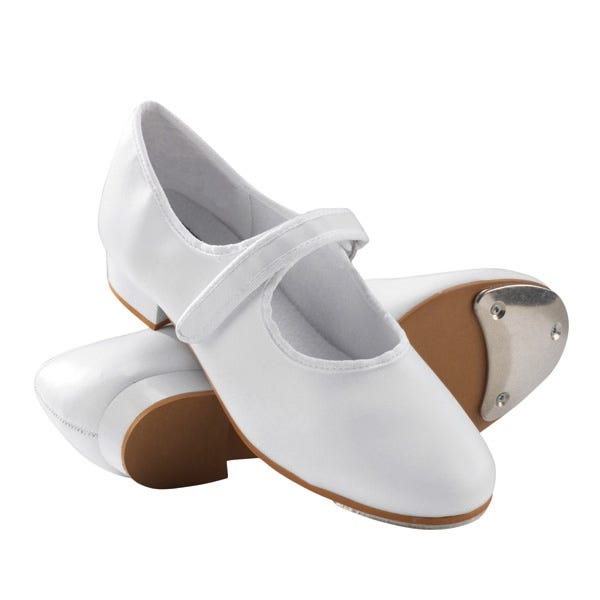 white velcro tap shoes