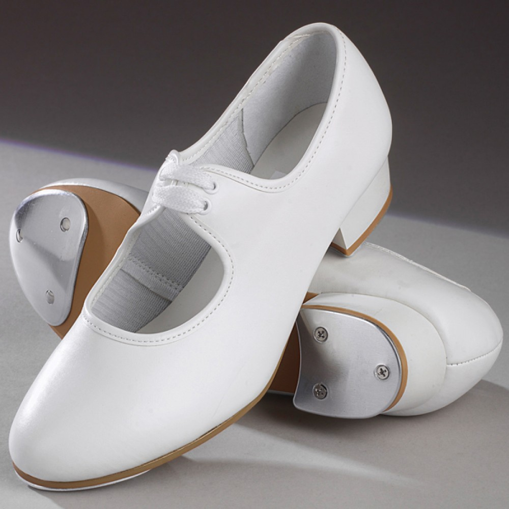 white lace up tap shoes